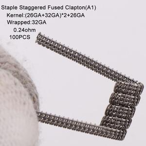 Image 3 - XFKM 100 pcs/pack Giant juggernaut coils Seper juggernaut Clapton coil Alien taiji super Clapton Heating Resistance rda coil