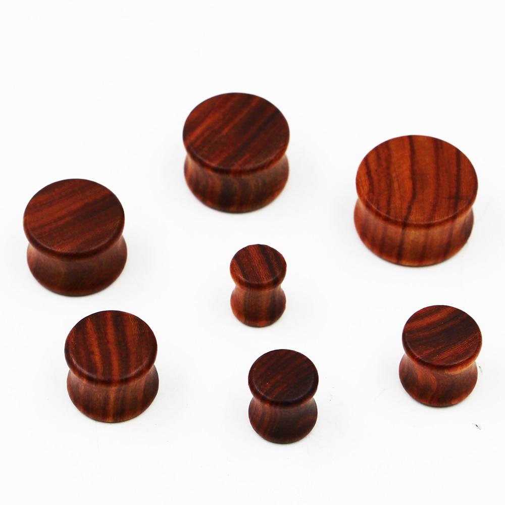 Wholesale 7 sizes Paorosa Wood Solid Plug Gauges Wooden Saddle Ear Gauge Flesh Tunnels Earlet body jewelry WSP0030