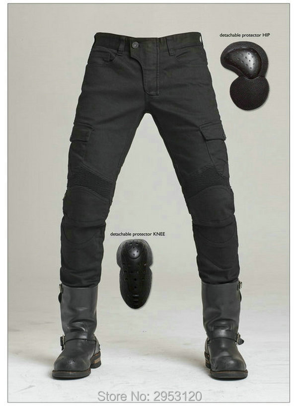 Free shipping uglyBROS motorcycle motorpool black leisure loose pants knight daily riding jeans motorcycle casual trousers