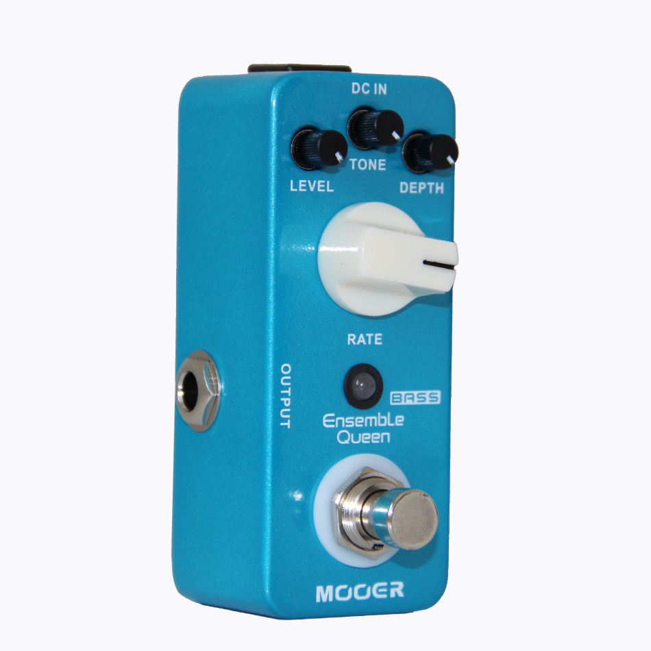 Mooer Ensemble Queen Bass Chorus Mini Guitar Effects Pedal Ture Bypass Guitar Accessories mooer hustle drive overdrive guitar effects pedal true bypass guitar pedal guitar accessories