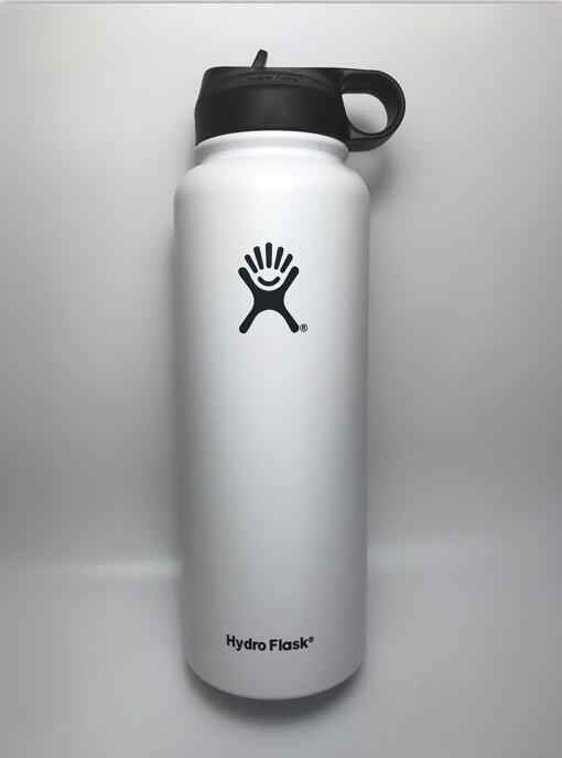 18/32/40OZ H-y-d-r-o Flask Insulated Stainless Steel Water Bottle Wide  Mouth Tumbler Travel Mug Coffee Cooler with Straw Lid