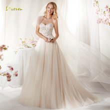 Loverxu Wedding Dress Sleeveless Backless Bride Dress