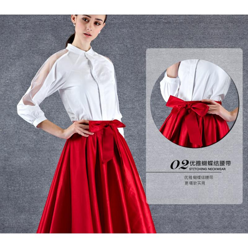 3e1eb979a2 2015 Elegant White Shirt + Red Skirt 2 piece Women Crop Top and Skirt Set  Desigual Pleated Skirt-in Women's Sets from Women's Clothing on  Aliexpress.com ...