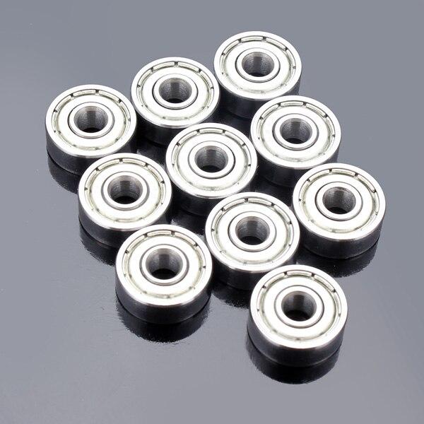 10 Stks/set Kogellager 624zz 4*13*5mm Mini Metalen Dubbele Afgeschermde Flens Voor 3d Printer Onderdelen