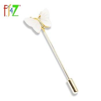 F.J4Z-broches elegantes para mujer, broches de mariposa de concha blanca a la...