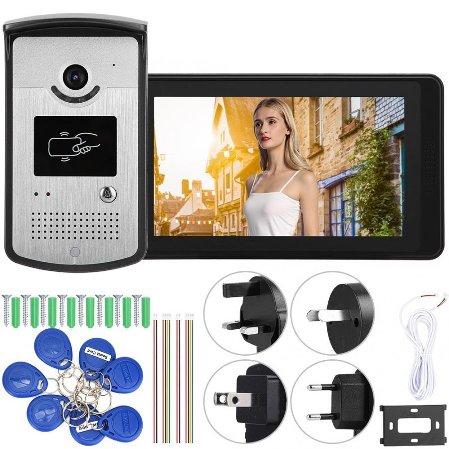 7in Wired Wifi HD Video Door Bell Phone Remote Control Doorbell Intercom System