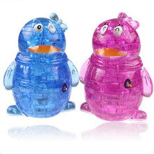 Torvi Cube T Children's Educational Animal 3D Jigsaw Toys Penguin 63pcs Crystal Puzzle Toy DIY Puzzles For Kids / Adults