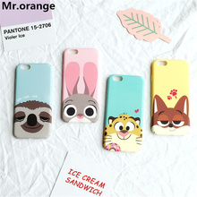 i7 i6 Zootopia Rabbit Judy Fox Sloth Lion Phone cases For iPhone 7 7Plus Hard Plastic Matte Case for iPhone 6 6s 6plus 6splus