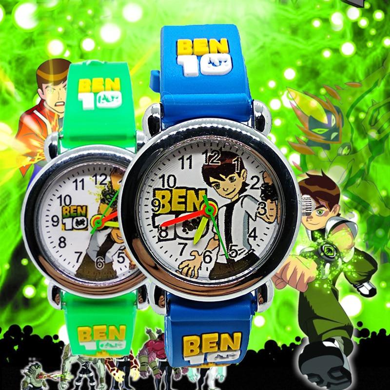 Cartoon Ben 10 Fashion Silicone Strap Children Watch Kids Watches For Girls Boys Students Clock Relogio Infantil Christmas Gift