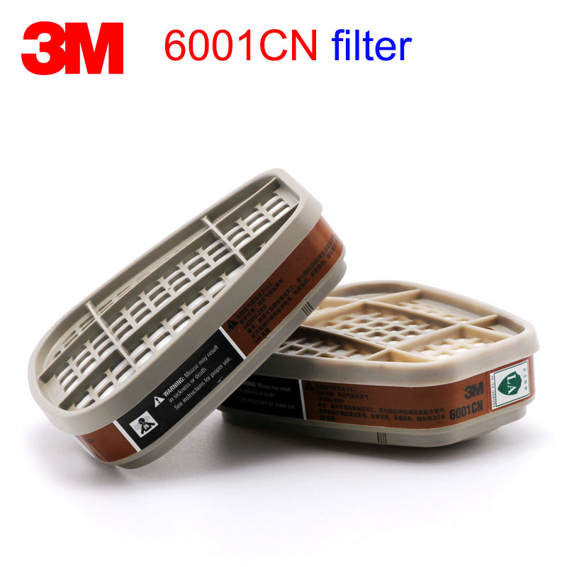 3M 6001CN Gas Mask Filter 6200/7502/6800 Mask Replace 3M Filter Against Painting Painting Organic Gas Respiratory Filter