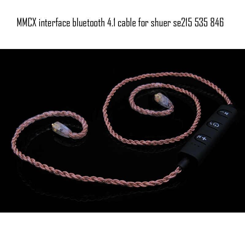 2017 Bingshe IZK słuchawek mmcx interfejs bezprzewodowy zestaw słuchawkowy Bluetooth 4.1 kabel ulepszony kabel do słuchawek dla IE8/IE80 SE215 SE535 SE846 UE
