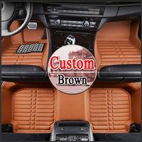 floor case car floor mats for toyota Crown Camry highlander Reiz RAV4 Corrolla Vios Prado ASX 3D car styling carpet floor liner