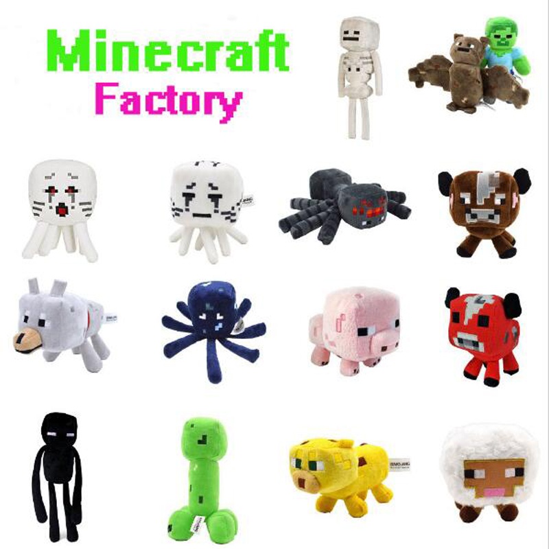 Minecraft stuffed plush toy doll game Spider Mooshroom sheep Enderman Ocelot Zombie Archer Squid Pig Bat