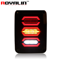 ROYALIN Offroads LEDs Car Tail Lights for Jeep Wrangler JK 07 15 European Plug Rear Brake Turn Signal Back up Replacement Lamps