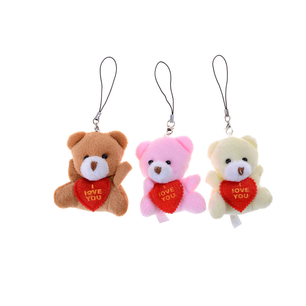 1pc Kids Cartoon Toys Mini 6 Cm Heart Bear Plush Toys Wedding Gifts Plush Dolls & Stuffed Toys Christmas Gifts Couple Gifts