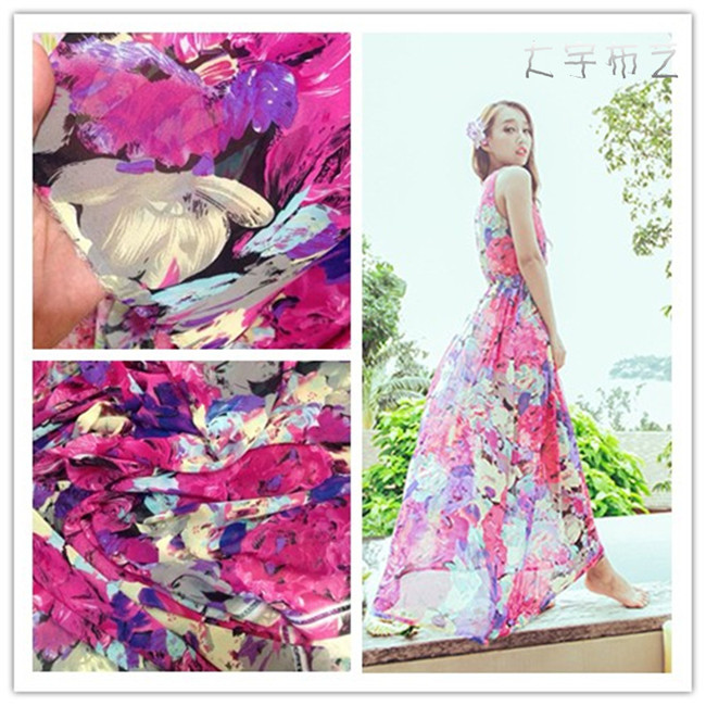 1dbb4a2fca0cd ZS20150052 High quality silk chiffon floral printed fabric chiffon ...
