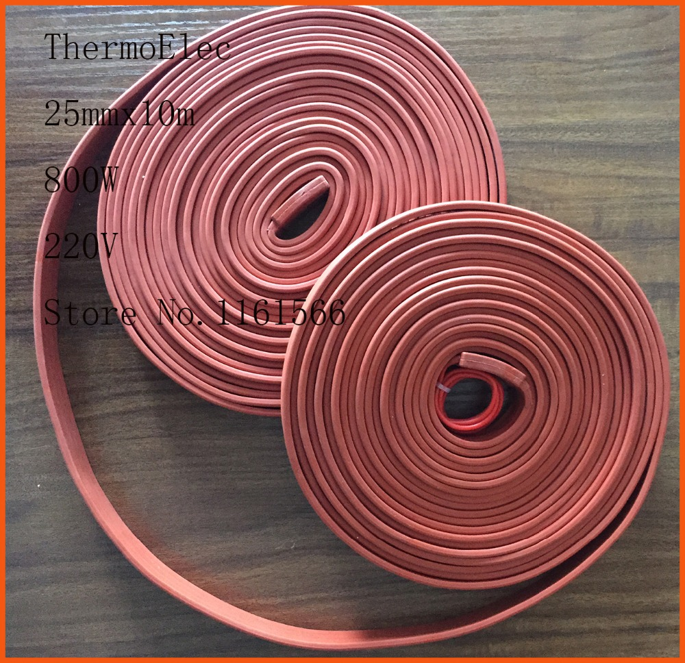 25MMx10m 800W 220V High quality flexible Silicone Heating belt heat - Household Merchandises - Photo 1