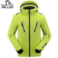 Оптовая продажа Поло 2018 зимняя Лыжная куртка комплект сноуборд лыжные брюки Pelliot непромокаемая зимняя Лыжная куртка для мужчин и женщин Мам