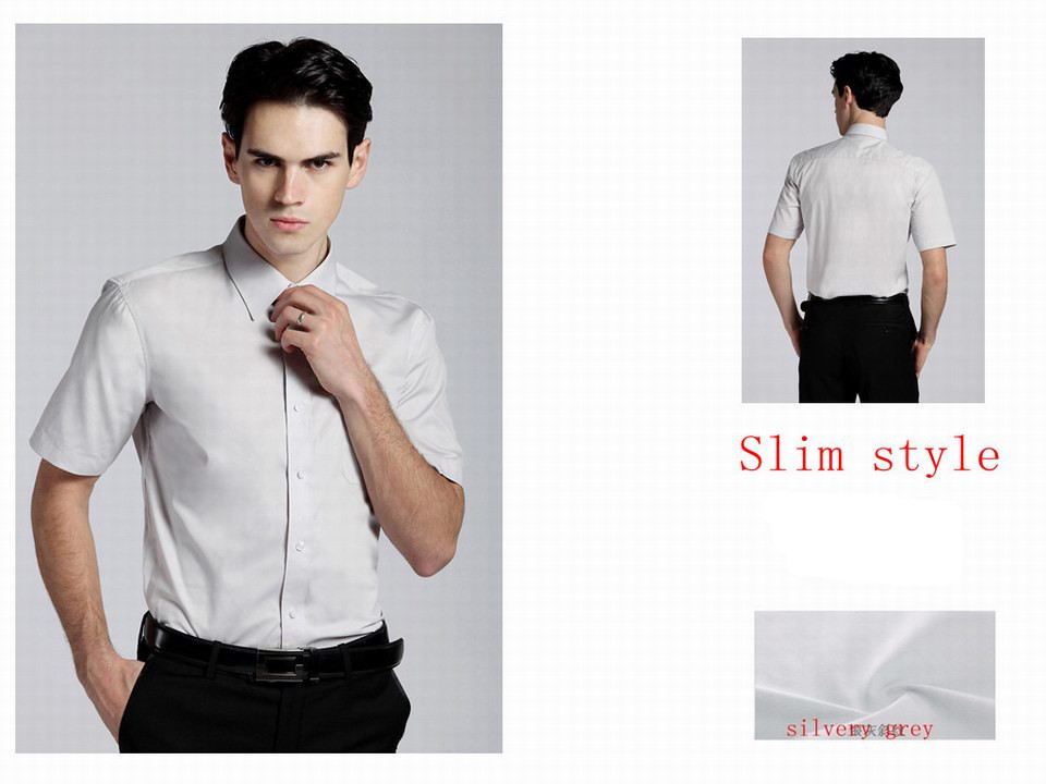 Top Quality Man Business Shirts Cotton Short Sleeve Formal
