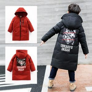 Image 4 -  30 gradi di abbigliamento per bambini 2020 ragazzo vestiti caldi di inverno giù giacca di cotone Con Cappuccio del cappotto impermeabile addensare tuta sportiva dei bambini parka