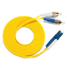 FC to LC Single-mode optical fiber patch cord SM FC/LC fiber jumper cabel Duplex 9/125 UPC Polish OFNR 3m 5m 10m 15m single mode sm 9 125 fiber optic adapter 2 5mm to 1 25mm lc female to fc male connector fc lc hybrid adapter hot selling