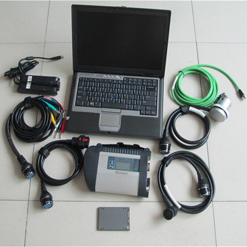 2018,09 для Benz mb star c4 и программного обеспечения SSD 240 ГБ в автомобиле диагностики для ноутбука dell d630 win7