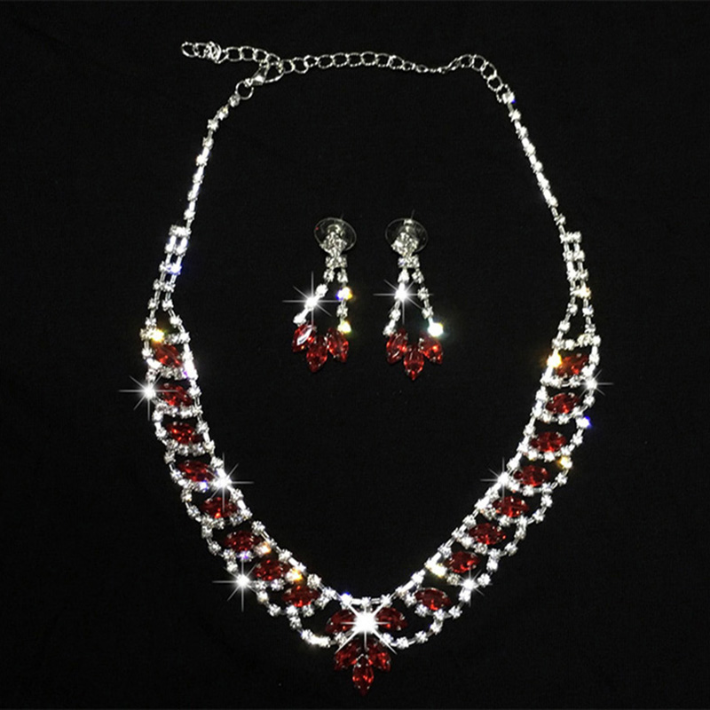 2018 New Arrival Belly Dance Costume Set Jewelry Accessories Red Earrings And Necklace Women Jewelry Sets Dancewear