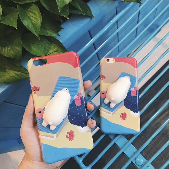 3D Animal Print Stress Release Cover For iPhone 8