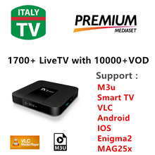 [TX3 Mini]Italy IPTV 2000 Live TV IPTV M3U ENIGAM2 Androd IPTV ITALY German French Spain UK IT MEDIASET PREMIUM PRIMAFILA(China)