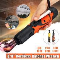 12V/18V Lithium battery Rechargeable 3/8'' Electric Wrench Portable ratchet wrench 90 degree Power Tool wrench Quick Charger