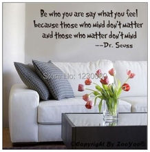 2014 Dr.Seuss Quote BE WHO YOU ARE Wall Sticker Vinyl Art Letter Decal Home
