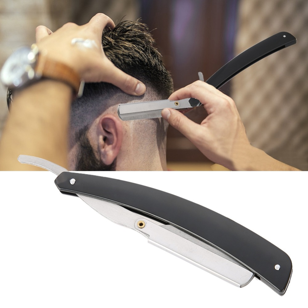 Barber Blade Razor Carbon Steel Salon Professional Straight Edge  Folding Shaving Hair Cutting Clipper Shave Beard Cutter