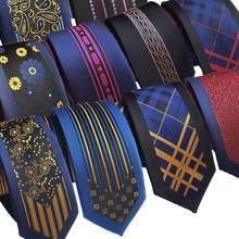 30 стилей s 6 см мужской и женский шелковый галстук жениха свадебный галстук модный стиль Бизнес Тонкий тонкий тканый галстук