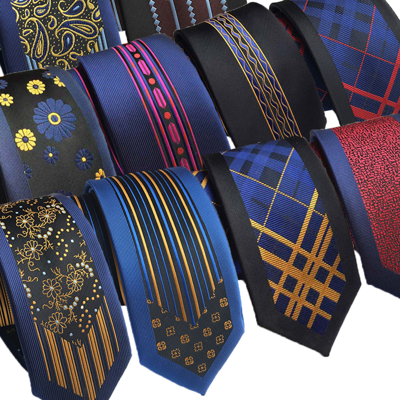 30 Styles New 6CM Man And Woman Silk Tie Groom's Wedding Necktie Fashion Style Business Slim Skinny Woven Neck Ties