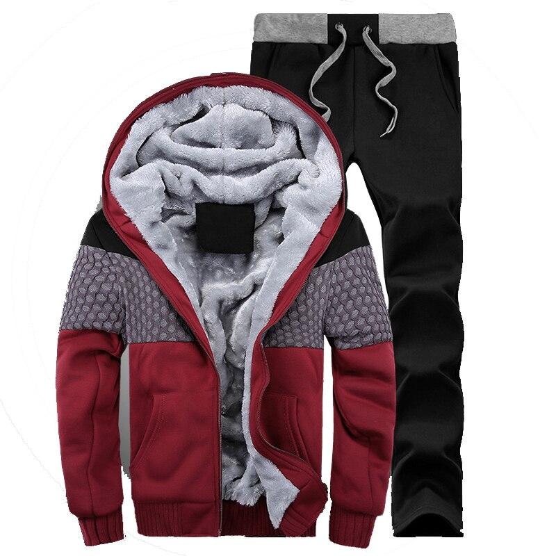 Thick Hoodies Hot Selling 2017 Winter Men s Sweatshirt Set Cardigan Hoodies Jacket Casual Oversized Hoodie