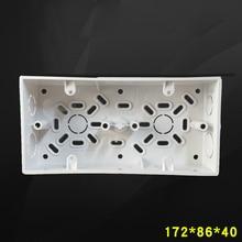 10pcs Wall Surface Mounted Switch Box Double Bottom Wire Box 86 Type Socket 2-Gang Tube Box 172*86*40mm Free Shipping
