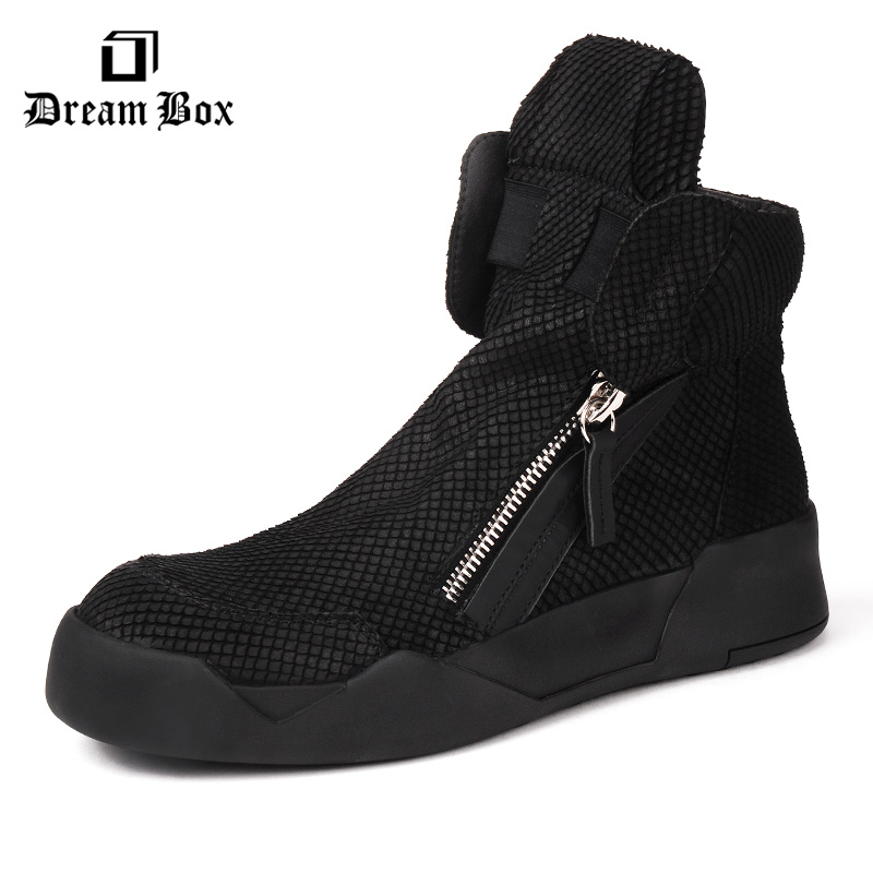 Dreambox Retro old new Korean version of a new Korean version of the real leather double zipper high casual shoes men's shoes нил янг promise of the real neil young promise of the real the monsanto years cd dvd