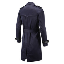 Classic Double Breasted Winter Clothing Long British Style Men Trench Coat (4 Colors)