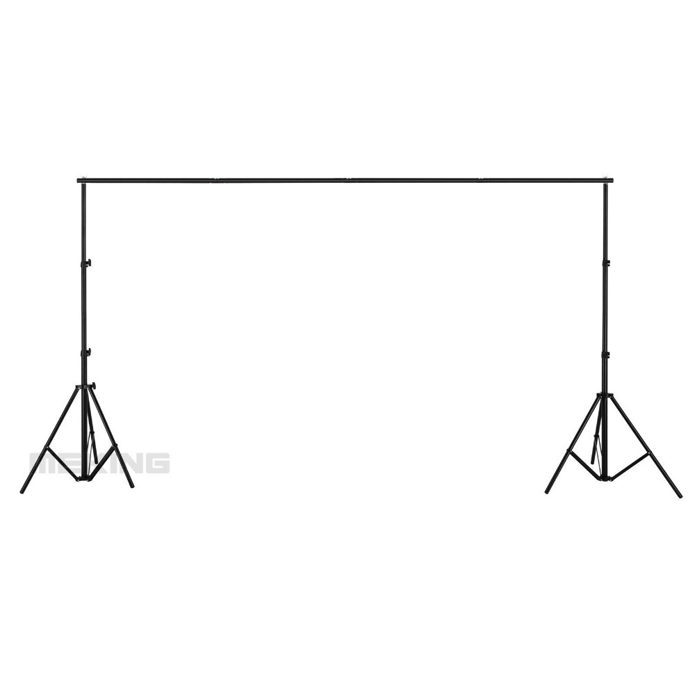 Meking 280cm High 320cm Wide Portable Photography Backdrops Background Support System 2 Light Stands 2 Cross Bar 1 Carrying Bag allenjoy 3 2 6m 10 8ft professional photo backdrops stand background support system 2 light stands 1 cross bar carry bag