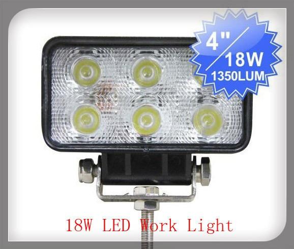 ФОТО Factory direct 18W Square LED work lights repair lights, led off-road lights