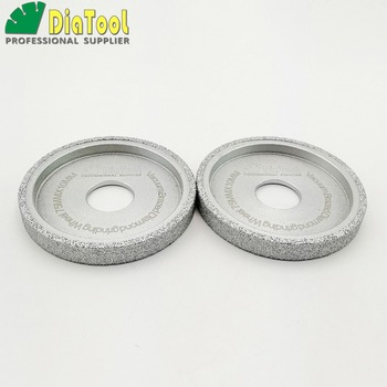 diatool dia75mmx30mm hand held grinding wheel vacuum brazed diamond flat grinding wheel profile wheel for stone artificial stone DIATOOL 2pcs Dia75x10mm Vacuum Brazed Diamond Flat Grinding Wheel Profile Wheel For Stone ArtificialStone Ceremic Glass Concrete