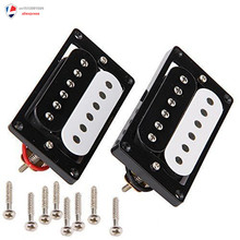 Humbucker Double Coil Electric Guitar Pickups Black/White