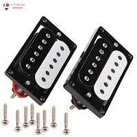 Humbucker Double Bobine Électrique Micros de Guitare Noir/Blanc