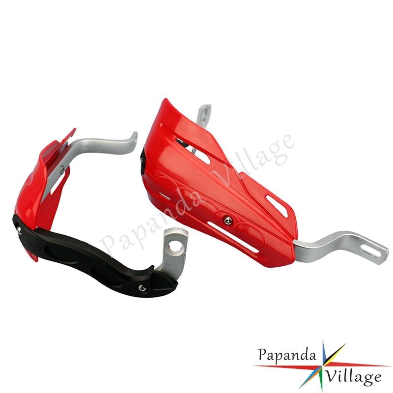 Papanda Red Motocross 7/8 ATV Handguards Protector Mounting Kit Dual Sport Universal for Honda CR CRF XR 125 250 450