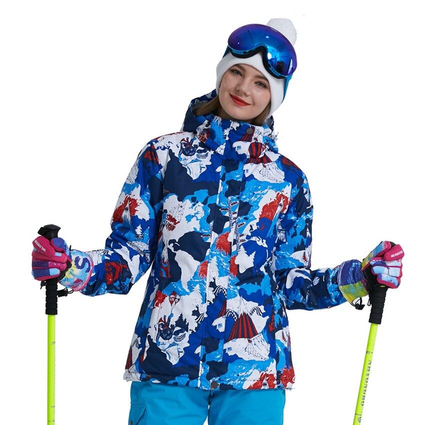 Veste de Ski femme nouvelle marque de haute qualité coupe-vent imperméable manteau de neige chaude femme hiver Ski Snowboard veste 200wy