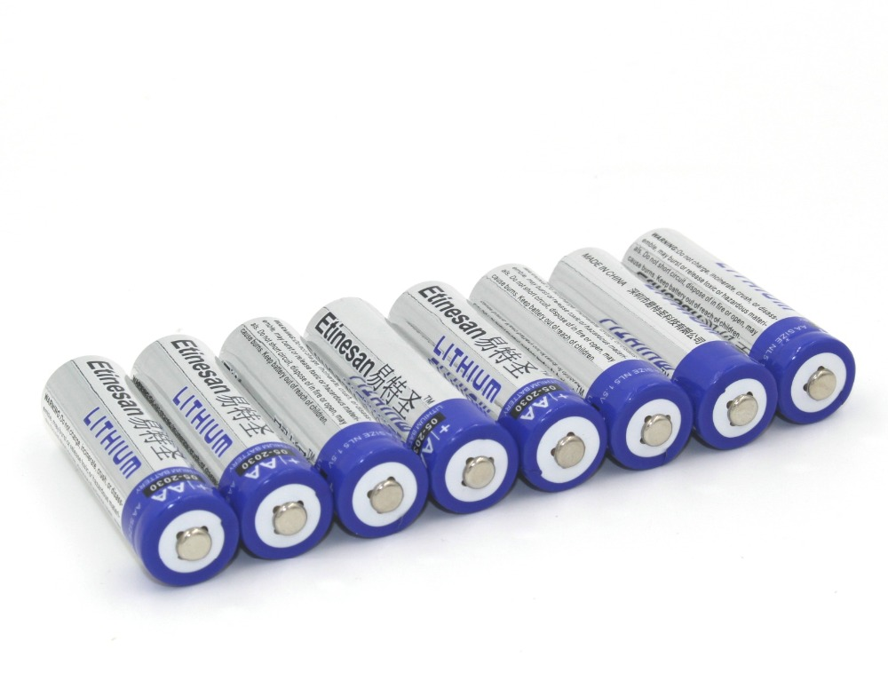 Brand New 8pcs lot ETINESAN SUPER Lithium 1 5V Powerful AA Batteries Good 15 year shelf