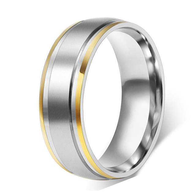 Surgical Stainless Steel Rings Plain Wedding Bands Engagement For Man And Woman