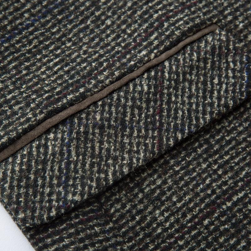Batmo 2019 new arrival high quality cotton plaid casual gray blazer men,men's suits jackets ,casual jackets men 8163