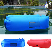 Outdoor Beach Water Sports Lazy Bag Inflatable Sofa Bed Couch Air Bed Good Quality Air Bag Portable Sofa Air Lounger(China)
