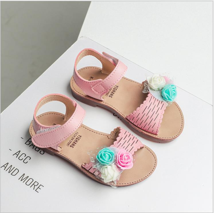 New Pu Leather Girls Shoes kids Summer Baby Girls Sandals with flower Shoes Skidproof Toddlers Infant Children Kids Beach ShoesNew Pu Leather Girls Shoes kids Summer Baby Girls Sandals with flower Shoes Skidproof Toddlers Infant Children Kids Beach Shoes